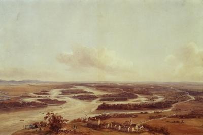 La Grande Armee Passing Danube in Vienna, November 4, 1805
