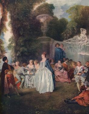 'A Fete Champetre', (Pastoral Gathering), 18th century, (1910) by Jean-Antoine Watteau