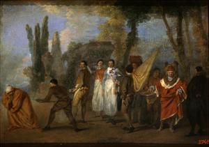 A Satire on Physicians, C1708 by Jean-Antoine Watteau