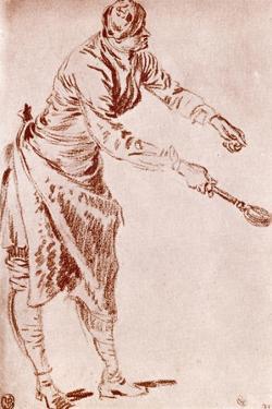 A Study in Sanguine, 1913 by Jean-Antoine Watteau