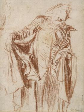 Actor Standing with Head Turned to the Right, C. 1719-1720 by Jean Antoine Watteau