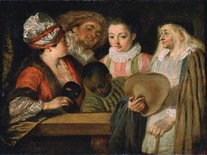 Actors of the Comédie Française, 1711-1712 by Jean-Antoine Watteau