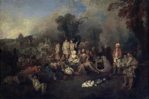 Bivouac, C1710 by Jean-Antoine Watteau