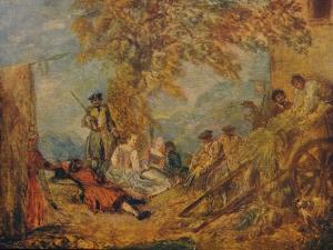 Camp Scene, c17th century, (1909) by Jean-Antoine Watteau