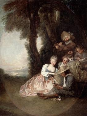 Champetre Concert, 1715 by Jean-Antoine Watteau