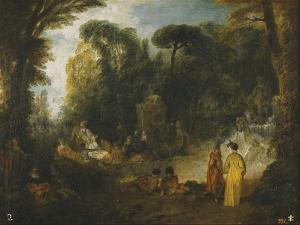 Courtly Gathering in a Park, 1712-1713 by Jean Antoine Watteau