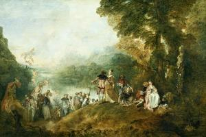 Embarkation for Cythera by Jean-Antoine Watteau