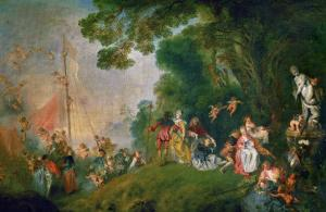 Embarkation for the Island of Cythera, 1718 by Jean Antoine Watteau