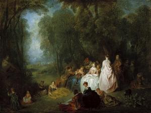 Fête Champêtre (Pastoral Gathering), 1718-21 by Jean Antoine Watteau