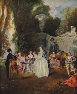 'Fetes Venitiennes', 1718-1719 by Jean-Antoine Watteau