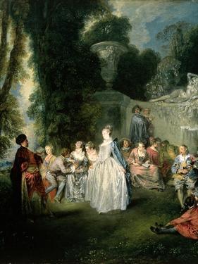 Fetes Venitiennes, 1718-19 by Jean Antoine Watteau