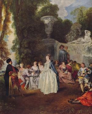 Fetes Venitiennes, c1718, (1938) by Jean-Antoine Watteau