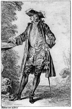 Figure, C1700-1720 by Jean-Antoine Watteau