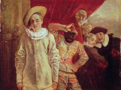 Harlequin, Pierrot and Scapin, Actors from the Commedia dell'Arte