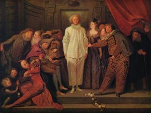 'Italian Comedians', c1720 by Jean-Antoine Watteau