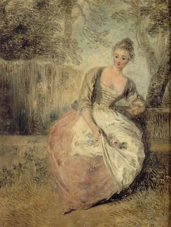 L'Amante Inquiète, 1716-1720 by Jean Antoine Watteau