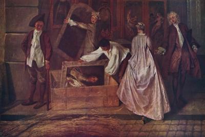 'L'Enseigne de Gersaint (fragment)', 1720-1721, (1937) by Jean-Antoine Watteau