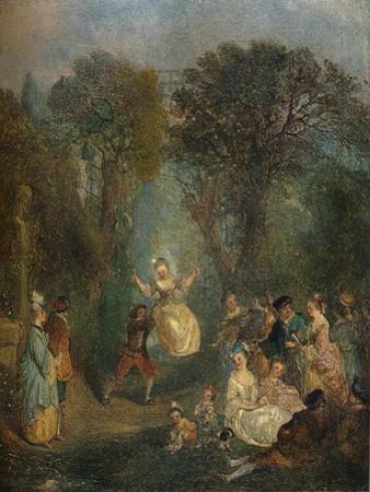 'L'Escarpolette', c1710 by Jean-Antoine Watteau