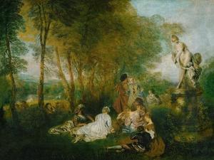 La Fete D'Amour, 1717 by Jean Antoine Watteau