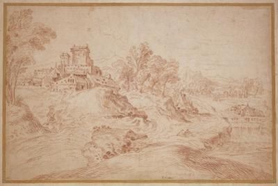 Landscape with a Castle, 1716-18 by Jean Antoine Watteau