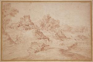 Landscape with a Castle, 1716-18 by Jean Antoine Watteau