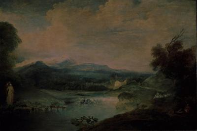 Landscape with a Waterfall, Ca 1714