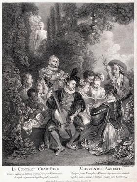 Le Concert Champetre, 1735 by Jean Antoine Watteau