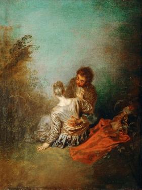 Le Faux Pas (The Mistaken Advance) by Jean Antoine Watteau