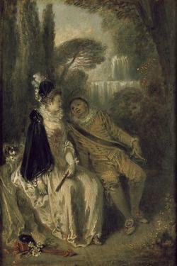 Le Repos Gracieux, C.1713 by Jean Antoine Watteau