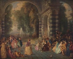 'Les Plaisirs du Bal (Le Bal Champetre)', c1717 by Jean-Antoine Watteau