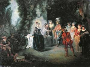 Love in French Theatre by Jean-Antoine Watteau
