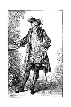 Man in 18th-Century French Costume by Jean-Antoine Watteau