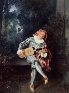 Mezzetin, 1718-1720 by Jean-Antoine Watteau