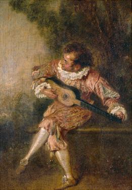 Mezzetino, Ca 1715 by Jean Antoine Watteau