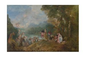 Pilgrimage to Cythera (Embarkation for Cyther), 1717 by Jean Antoine Watteau