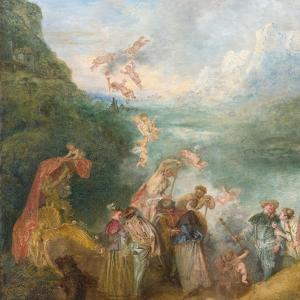 Pilgrimage to Cythera (Embarkation for Cyther) Detal: Putti, 1717 by Jean Antoine Watteau