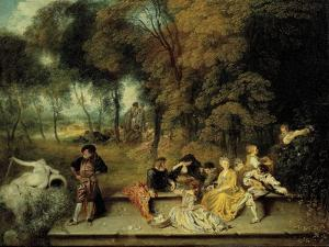 Pleasures of Love, Ca. 1718-1719 by Jean Antoine Watteau