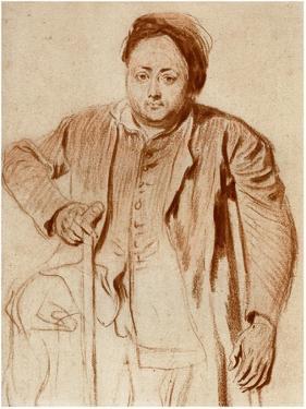 Portrait of a Man on Crutches, C1710 by Jean-Antoine Watteau