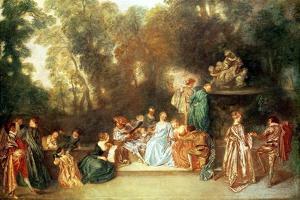 Recreation Galante, 1717-18 by Jean Antoine Watteau