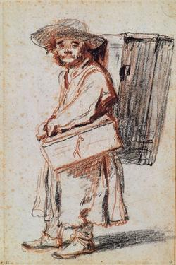 Study of a Pedlar from the Auvergne by Jean Antoine Watteau