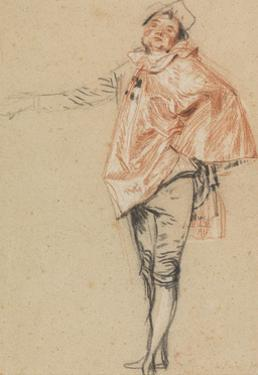 Study of a Standing Dancer with an Outstretched Arm, 1710 by Jean Antoine Watteau