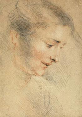 Study of a Woman's Head, 1710s by Jean Antoine Watteau
