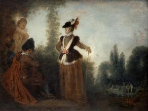 The Adventuress, C1717 by Jean-Antoine Watteau