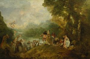 The Embarkation for Cythera, 1717 by Jean Antoine Watteau