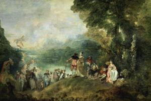 The Embarkation for Cythera by Jean Antoine Watteau