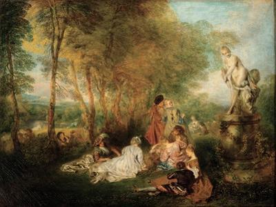 The Feast of Love, Ca. 1718-1719 by Jean Antoine Watteau