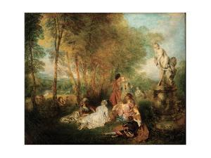 The Feast of Love, Ca. 1718-1719 by Jean Antoine Watteau