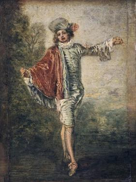 The Indifferent One, 1717 by Jean-Antoine Watteau