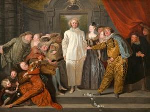 The Italian Comedians, Ca 1720 by Jean Antoine Watteau