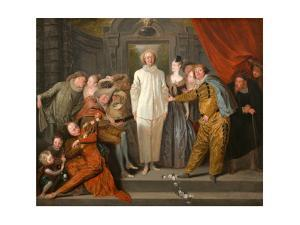 The Italian Comedians, Ca 1720 by Jean Antoine Watteau